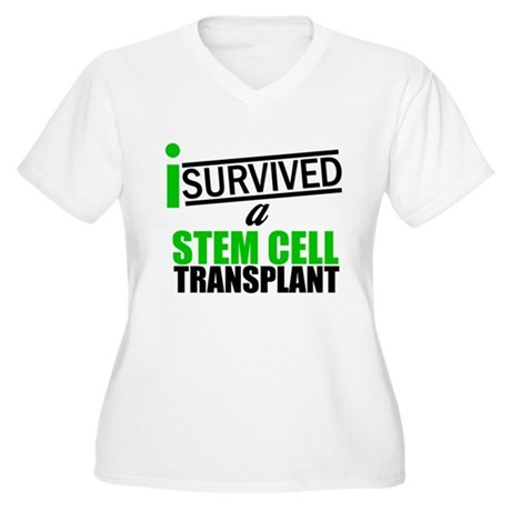 StemCellTransplant Survivor Women's Plus Size V-Ne