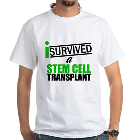 StemCellTransplant Survivor White T-Shirt