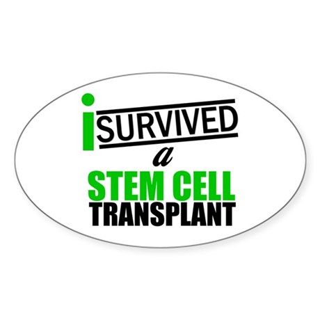 StemCellTransplant Survivor Oval Sticker (10 pk)