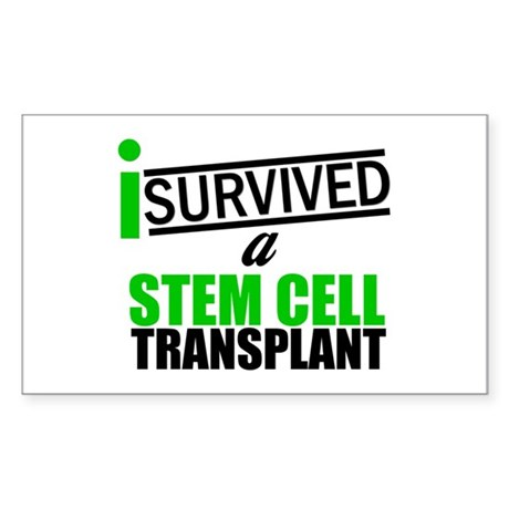 StemCellTransplant Survivor Rectangle Sticker 10