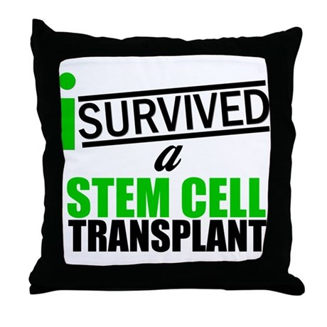 StemCellTransplant Survivor Throw Pillow