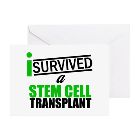 StemCellTransplant Survivor Greeting Cards (Pk of