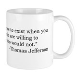 Thomas Jefferson Democracy Quote Small Mugs
