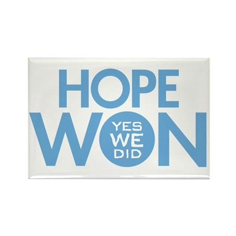 Hope Won Rectangle Magnet