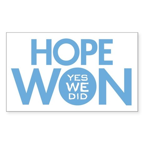 Hope Won Rectangle Sticker