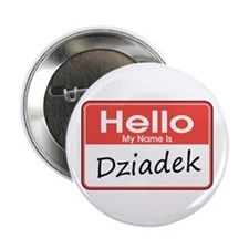 "Hello, My name is Dziadek 2.25"" Button (10 pack)"