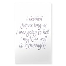 Twilight Edward Quotes Rectangle Decal