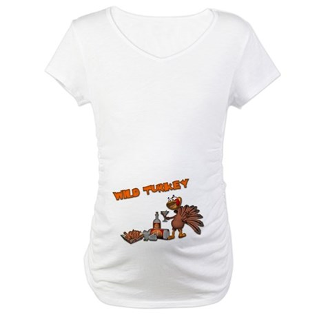 Wild Turkey Maternity T-Shirt