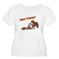 Wild Turkey Women's Plus Size Scoop Neck T-Shirt