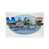 Maine Seacoast Rectangle Magnet (100 pack)