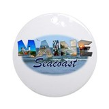 Maine Seacoast Ornament (Round)