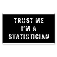 Statistician Gift Rectangle Decal