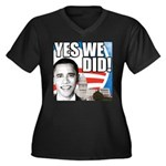 Obama Biden 2008 Women's Plus Size V-Neck Dark T-S