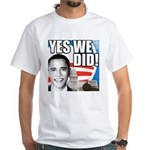 Obama Biden 2008 White T-Shirt