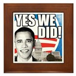Obama Biden 2008 Framed Tile
