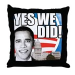 Obama Biden 2008 Throw Pillow