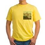 Lavender Guinea Fowl Yellow T-Shirt