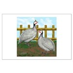 Lavender Guinea Fowl Large Poster