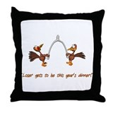 Thanksgiving Turkey Dinner Throw Pillow