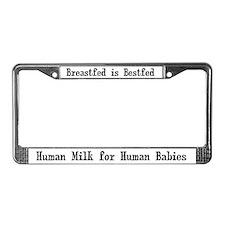 Human Milk License Plate Frame