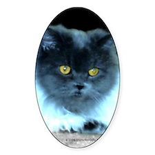Blue Cat Eyes Sticker (Oval)
