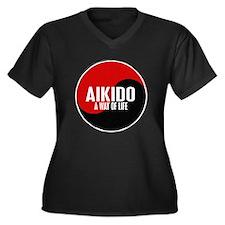 AIKIDO Way Of Life Yin Yang Women's Plus Size V-Ne