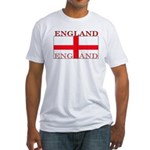 England English St. George Flag Fitted T-Shirt
