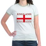 England English St. George Flag Jr. Ringer T-Shirt