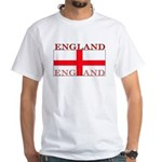 England English St. George Flag White T-Shirt