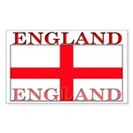 England English St. George Flag Sticker (Rectangul