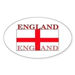 England English St. George Flag Oval Sticker