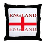 England English St. George Flag Throw Pillow