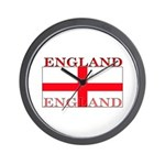 England English St. George Flag Wall Clock