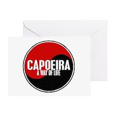 CAPOEIRA A Way Of Life Yin Yang Greeting Card