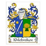 Khlebnikov Family Crest Small Poster