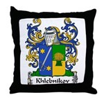 Khlebnikov Family Crest Throw Pillow