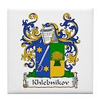 Khlebnikov Family Crest Tile Coaster