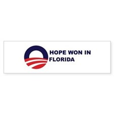 Hope Won in FLORIDA Bumper Bumper Sticker