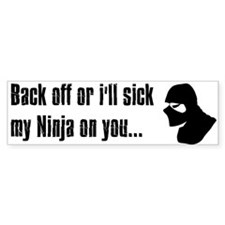 Back off Ninja sticker