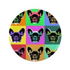 "French Bulldog 3.5"" Button"
