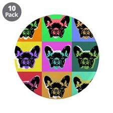 "French Bulldog 3.5"" Button (10 pack)"