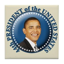 President Obama inauguration Tile Coaster
