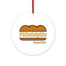 Philadelphia Cheesesteak Ornament (Round)