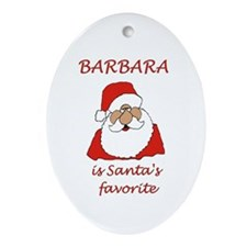 Barbara Christmas Oval Ornament