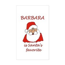 Barbara Christmas Rectangle Decal