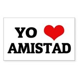 Amo (i love) Amistad Rectangle Decal