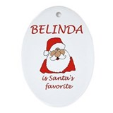 Belinda Christmas Oval Ornament
