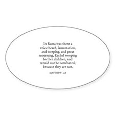 MATTHEW 2:18 Oval Decal