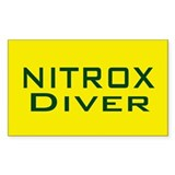 Nitrox Diver Rectangle Sticker 10 pk)