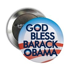"God Bless Barack Obama 2.25"" Button (10 pack)"